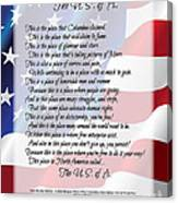 The U.s.a. Flag Poetry Art Poster Canvas Print