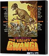 The Valley Of Gwangi, Us Poster Art Canvas Print