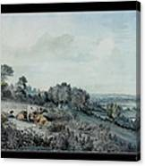 The Valley Of The Stour, Looking Towards East Bergholt, 1880 Pencil, Pen And Ink And Watercolour Canvas Print