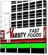 The Varsity Atlanta Pop Art Canvas Print