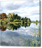 The View Across The Lake Canvas Print