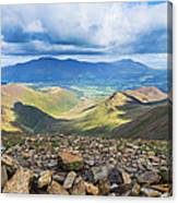 Keswick And Derwent Water From Crag Hill Canvas Print
