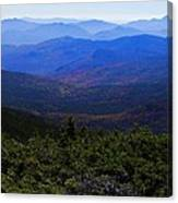 The View From Mt Washington Canvas Print