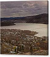 The Village Of Cold Spring And The Hudson River Canvas Print
