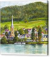 The Village Of Einruhr In Germany Canvas Print