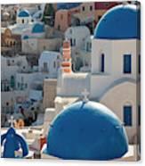 The Village Of Oia Santorini Cyclades Canvas Print