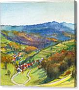 The Village Of Wieden In The Black Forest Canvas Print