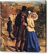The Village Postman Canvas Print
