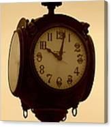 The Vintage Town Clock Canvas Print