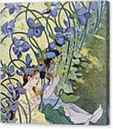 The Violets Lively Flowers Canvas Print