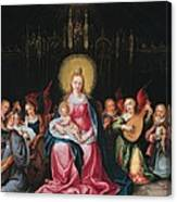 The Virgin And Child Surrounded Canvas Print