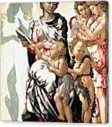 The Virgin And Child With Saint John And Angels Canvas Print