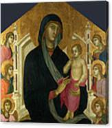 The Virgin And Child With Six Angels Canvas Print