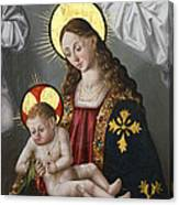 The Virgin And The Child With The Parrot Canvas Print