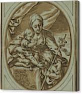The Virgin, Child Canvas Print