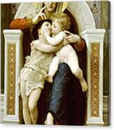 The Virgin The Baby Jesus And Saint John The Baptist Canvas Print