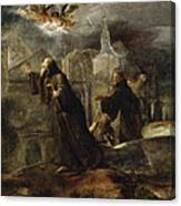 The Vision Of St Francis Of Paola Canvas Print
