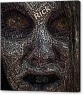 The Walking Dead Names Zombie Mosaic Canvas Print