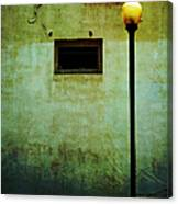 The Wall And The Lamppost Canvas Print