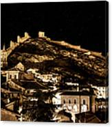 The Walls Of Albarracin In The Summer Night Spain Canvas Print