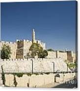The Walls Of Jerusalem Old Town Israel Canvas Print