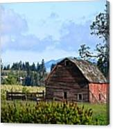 The Warmth Of The Barn Canvas Print