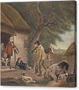 The Warrener, Engraved By William Ward 1766-1826, Pub. By H. Morland, 1806 Mezzotint Engraving Canvas Print