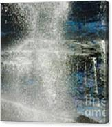 The Water Blue Canvas Print