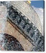 The Water Droplets From The Fountain At The Hagia Sophia Turkey Canvas Print