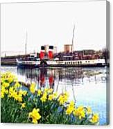 The Waverley Sails Down The River Clyde. Canvas Print