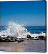 The Waves Of Carpinteria Canvas Print