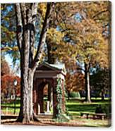 The Well - Davidson College Canvas Print