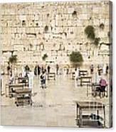 The Western Wall In Jerusalem Israel Canvas Print