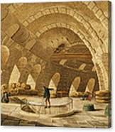 The Wheat Store, Rue De Viarmes, Engraved By I. Hill Coloured Engraving Canvas Print