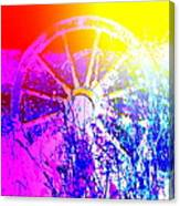 I Have A Wheel Of Colors But It's Standing Still  Canvas Print