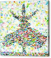 The Whirling Sufi Canvas Print