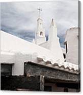 Binibeca Vell In Menorca Is A Small Fishermen Villa With The Taste Of Past Times - The White Chapel Canvas Print