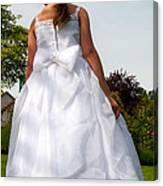 The White Dress Canvas Print