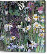 The White Garden Canvas Print