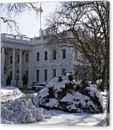 The White House In Winter Canvas Print