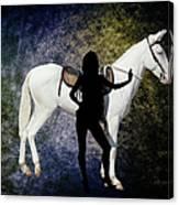 The White Mule Canvas Print