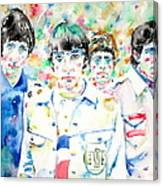 The Who - Watercolor Portrait Canvas Print
