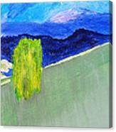 The Willow On The Hill #2 Canvas Print