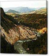The Winding Yellowstone Canvas Print