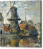 The Windmill On The Onbekende Gracht Amsterdam Canvas Print