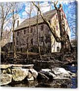 The Wissahickon Creek And Mather Mill Canvas Print