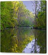 The Wissahickon Creek In The Morning Canvas Print