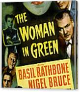 The Woman In Green, Us Poster Art, Left Canvas Print