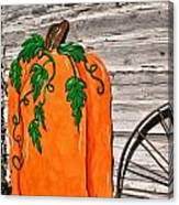 The Wooden Pumpkin Canvas Print
