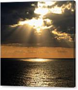 Key West Sunset The Word Canvas Print